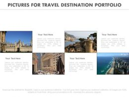 Four Pictures For Travel Destination Portfolio Flat Powerpoint Design