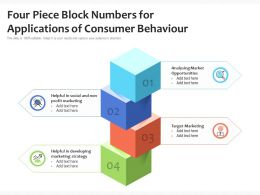Four Piece Block Numbers For Applications Of Consumer Behaviour