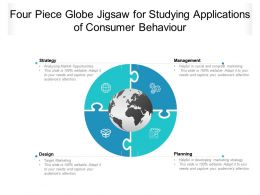 Four Piece Globe Jigsaw For Studying Applications Of Consumer Behaviour