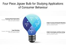 Four Piece Jigsaw Bulb For Studying Applications Of Consumer Behaviour