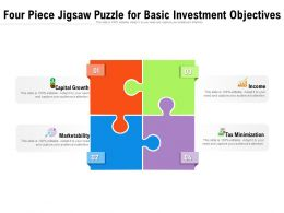 Four Piece Jigsaw Puzzle For Basic Investment Objectives