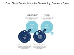 Four Piece Puzzle Circle For Developing Business Case
