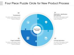 Four Piece Puzzle Circle For New Product Process
