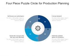 Four Piece Puzzle Circle For Production Planning