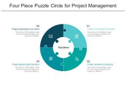 Four Piece Puzzle Circle For Project Management