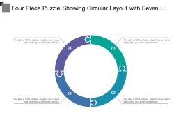 Four Piece Puzzle Showing Circular Layout With Seven Categories Of Icon Option4