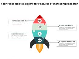 Four Piece Rocket Jigsaw For Features Of Marketing Research