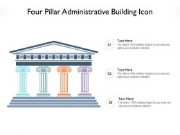 Four Pillar Administrative Building Icon