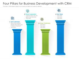 Four Pillars For Business Development With CRM