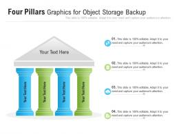 Four Pillars Graphics For Object Storage Backup Infographic Template