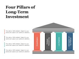 Four Pillars Of Long Term Investment Sample Of Ppt Presentation