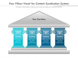 Four Pillars Visual For Content Syndication System Infographic Template