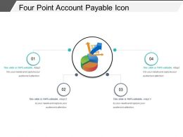 Four Point Account Payable Icon Powerpoint Slide Template