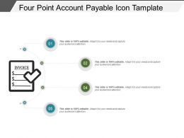 Four Point Account Payable Icon Tamplate Ppt Icon