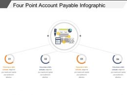 Four Point Account Payable Infographic Powerpoint Slide Templates