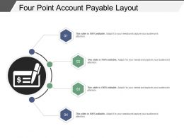 Four Point Account Payable Layout Powerpoint Slide Themes