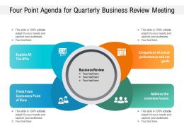 Four Point Agenda For Quarterly Business Review Meeting