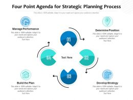 Four Point Agenda For Strategic Planning Process