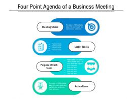 Four Point Agenda Of A Business Meeting