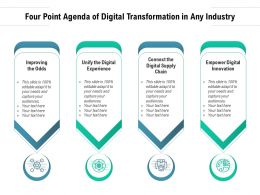 Four Point Agenda Of Digital Transformation In Any Industry