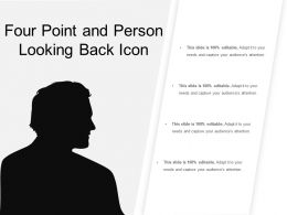 Four Point And Person Looking Back Icon