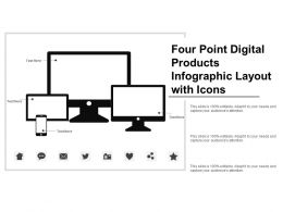 Four Point Digital Products Infographic Layout With Icons