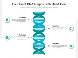 Four Point DNA Graphic With Heart Icon