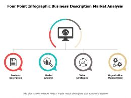 Four Point Infographic Business Description Market Analysis