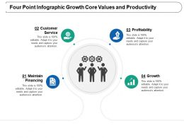 Four Point Infographic Growth Core Values And Productivity