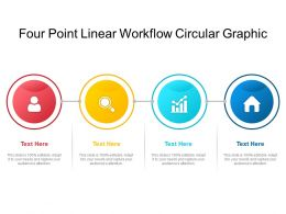 Four Point Linear Workflow Circular Graphic