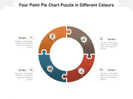 Four Point Pie Chart Puzzle In Different Colours