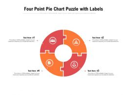 Four Point Pie Chart Puzzle With Labels