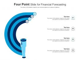 Four Point Slide For Financial Forecasting Infographic Template