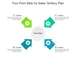 Four Point Slide For Sales Territory Plan Infographic Template