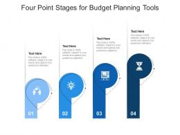 Four Point Stages For Budget Planning Tools Infographic Template