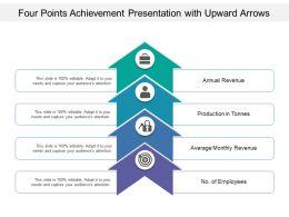 Four Points Achievement Presentation With Upward Arrows