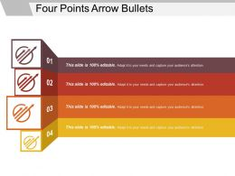 Four Points Arrow Bullets