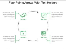 Four Points Arrows With Text Holders