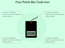 Four Points Bar Code Icon