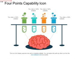 Four Points Capability Icon Ppt Presentation Examples