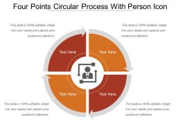 Four Points Circular Process With Person Icon