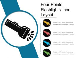 Four Points Flashlights Icon Layout
