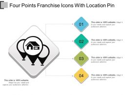 Four Points Franchise Icons With Location Pin