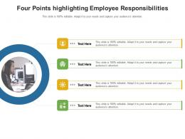 Four Points Highlighting Employee Responsibilities Infographic Template