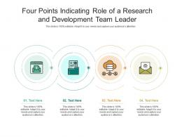 Four Points Indicating Role Of A Research And Development Team Leader Infographic Template