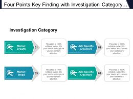 Four Points Key Finding With Investigation Category Market Growth And Tread