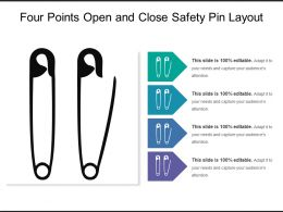 Four Points Open And Close Safety Pin Layout