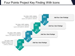 Four Points Project Key Finding With Icons
