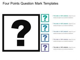 Four Points Question Mark Templates