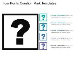 Four Points Question Mark Templates